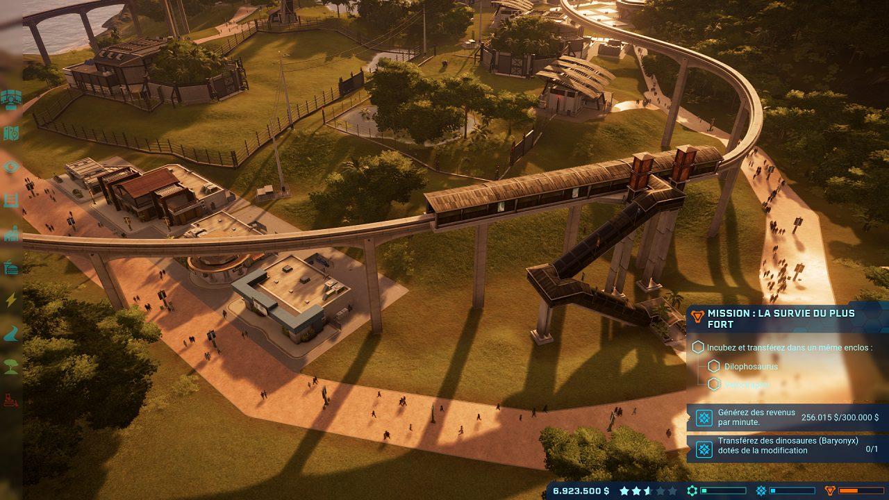 monorail Jurassic World Evolution
